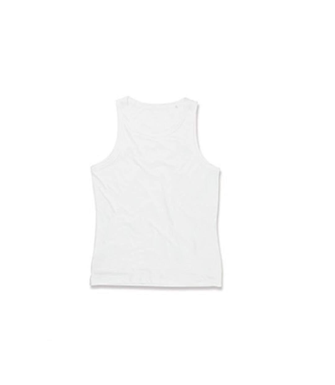 Stedman Mens Active Poly Sports Vest (White) - UTAB333