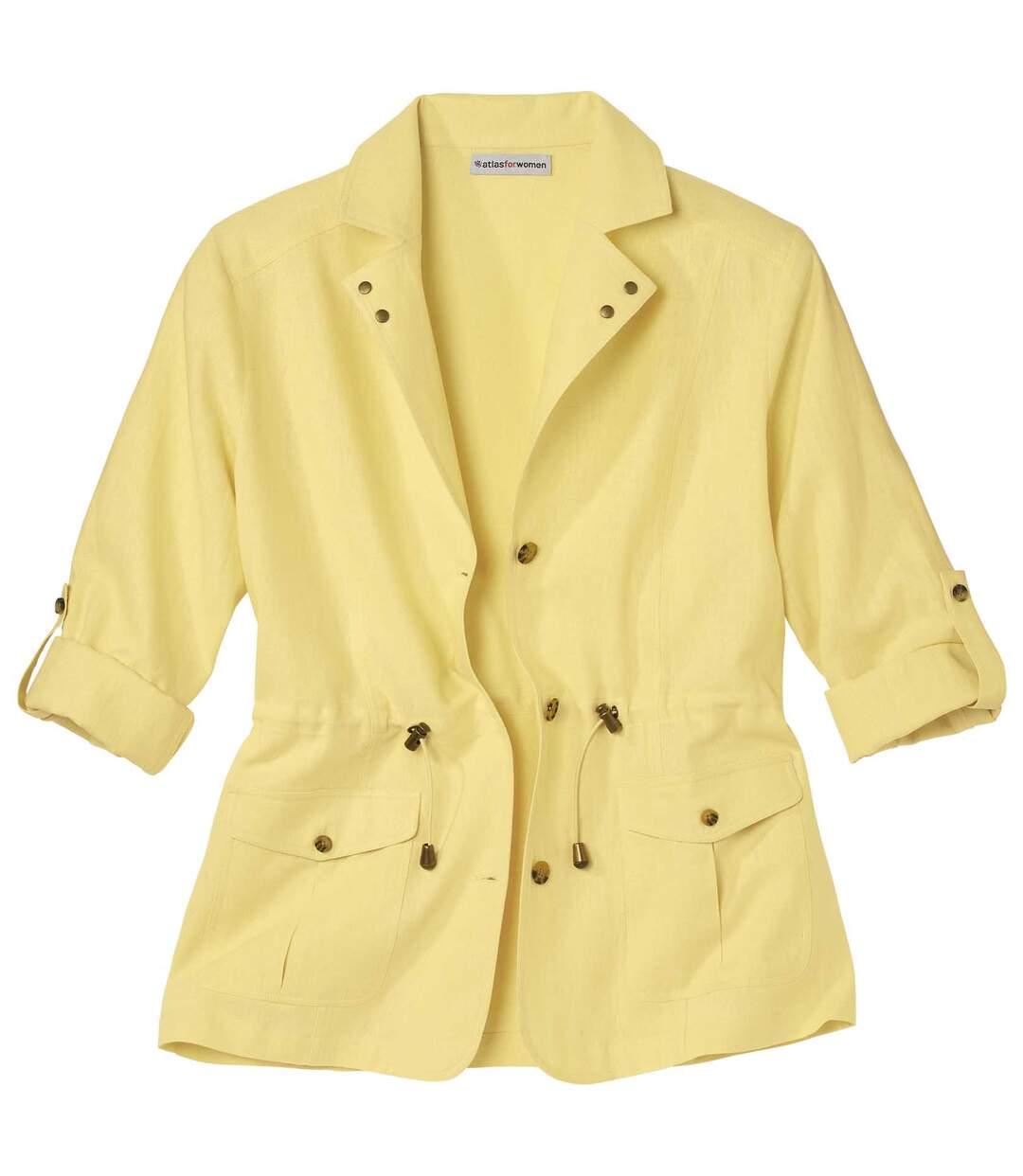 Safari-Jacke aus Leinen und Viskose