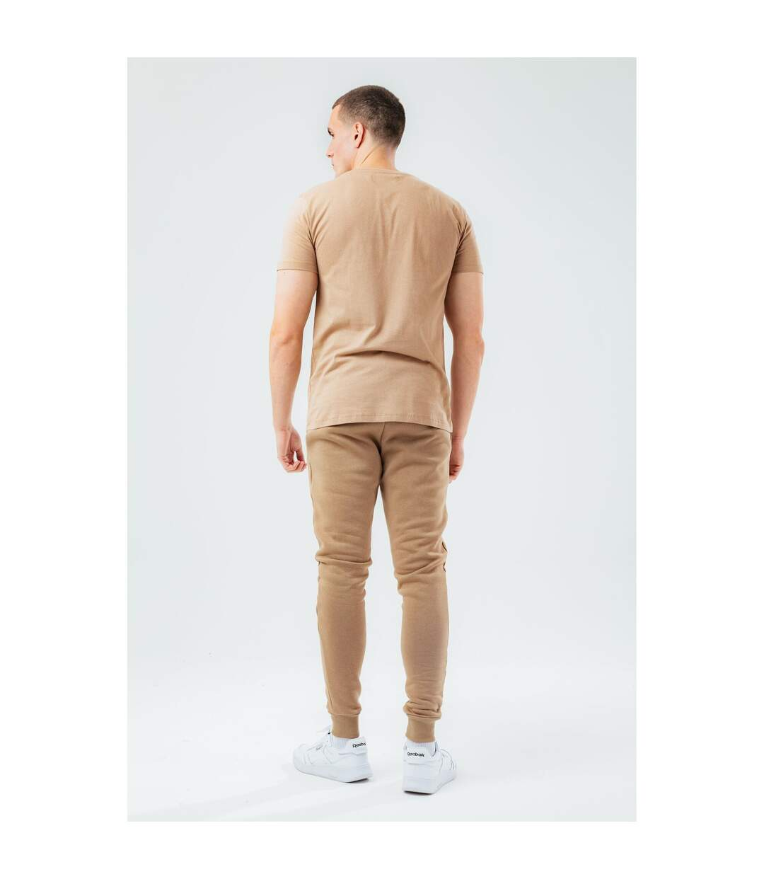 Hype T-Shirt Mens Scribble (Beige) - UTHY4687