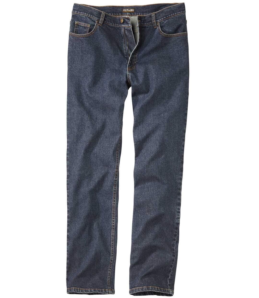 Ciemnoniebieskie dżinsy ze stretchu