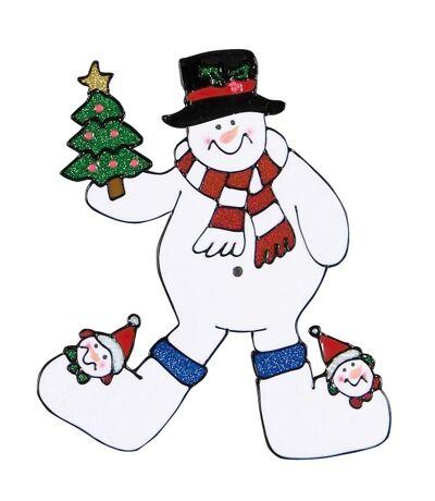 Christmas Shop - Stickers de Noël pour fenêtre (Bonhomme de neige) (Taille Unique) - UTRW5848
