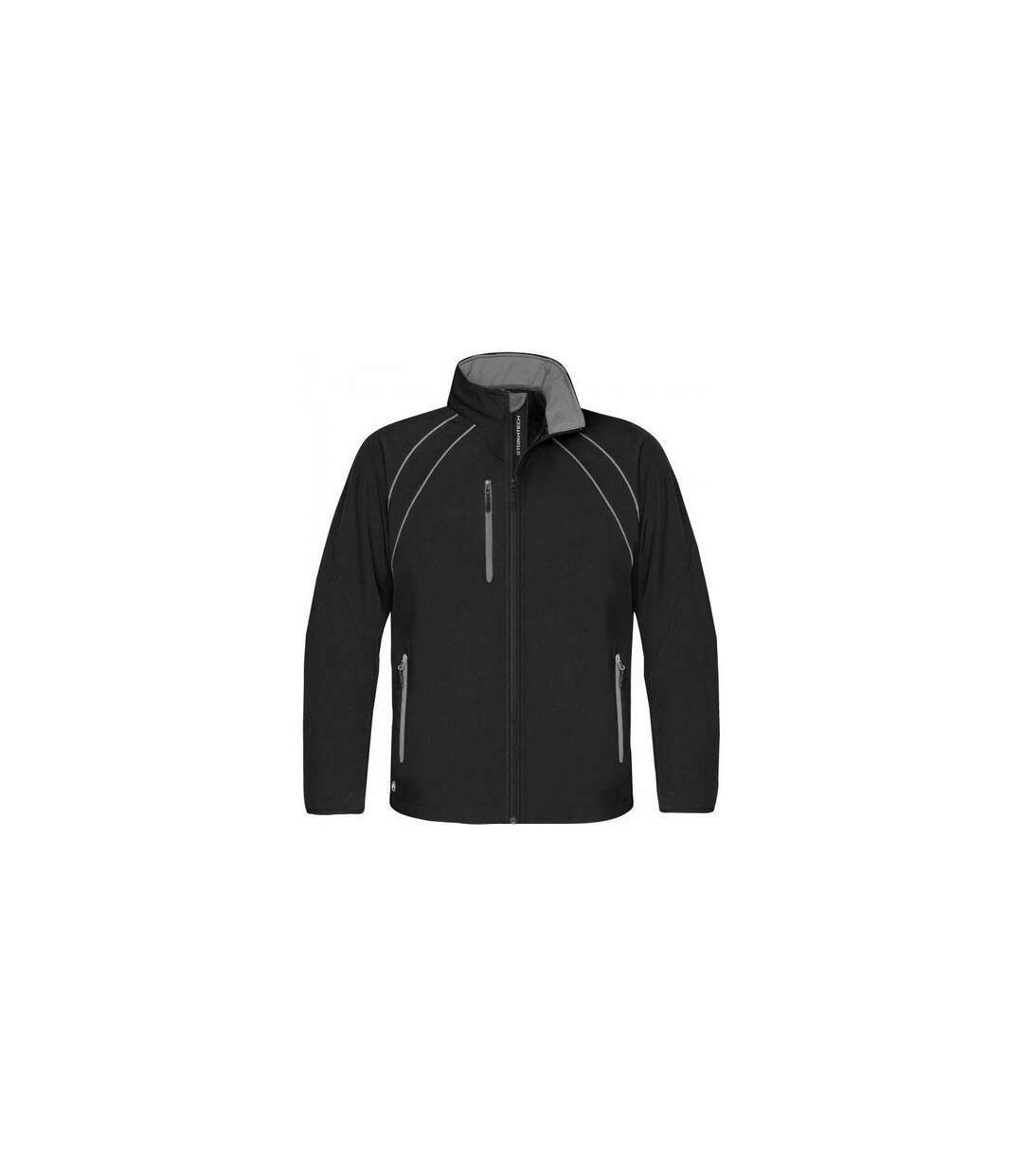 Stormtech Mens Crew Softshell Jacket (Black/Granite) - UTBC1169