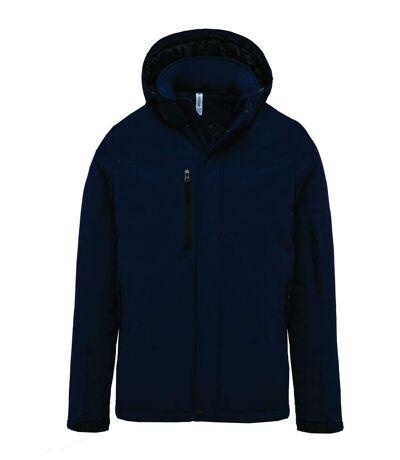 Parka softshell matelassée à capuche - K650 - homme - bleu marine