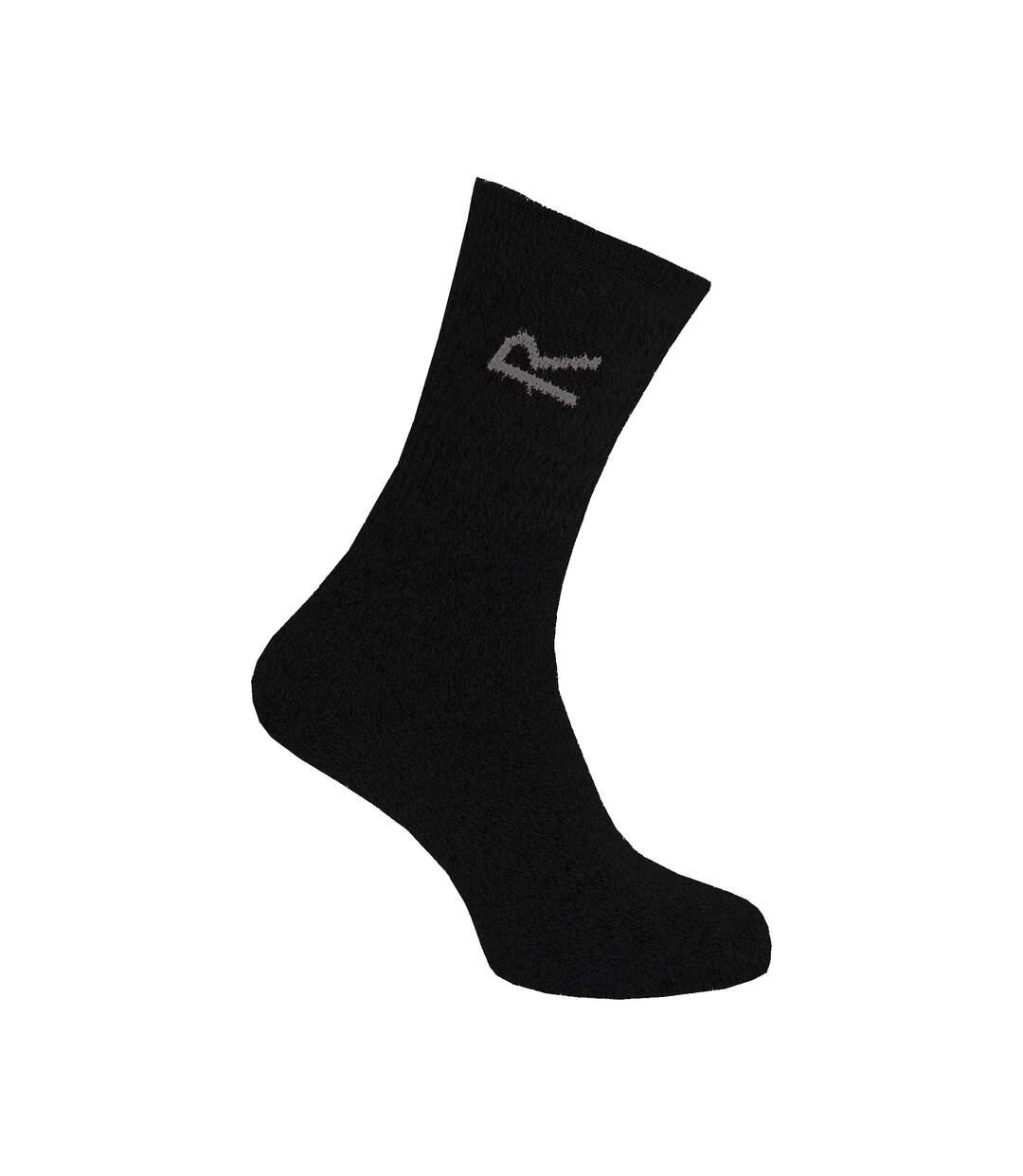 Regatta Great Outdoors Mens Cotton Rich Casual Socks (Pack Of 3) (Grey Marl) - UTRG786