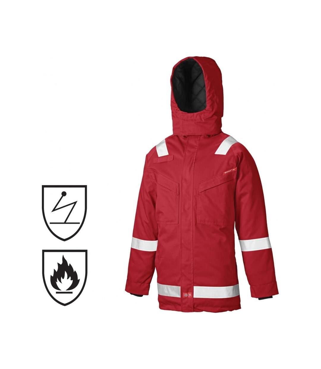 Dickies Mens Pyrovatex Flame Retardant Antistatic Parka Jacket (Red) - UTDK165