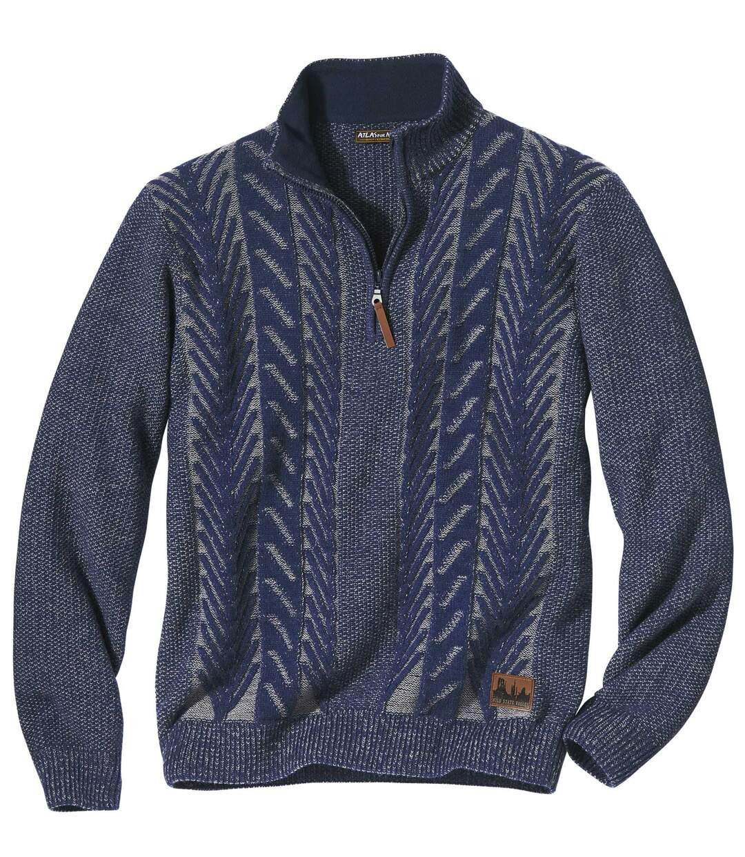 Troyer-Pullover mit Zopfmuster