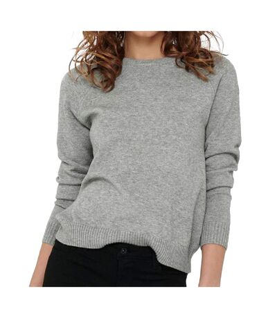 Pull Gris Clair Femme Only Lesly