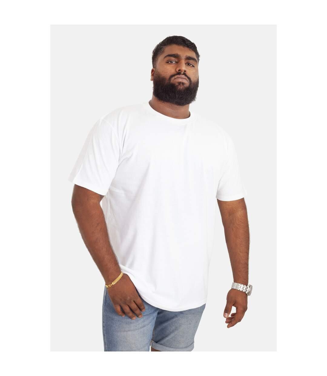 Duke D555 Homme Diaz Big Tall King Size couture T-shirt homme à encolure ras-du-cou-Noir