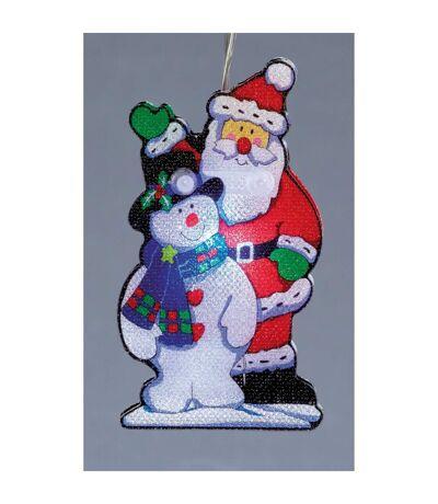 Christmas Shop - Père Noël et Bonhomme de Neige illuminés (Lot de 10) (Multicolore) (Taille unique) - UTRW5082