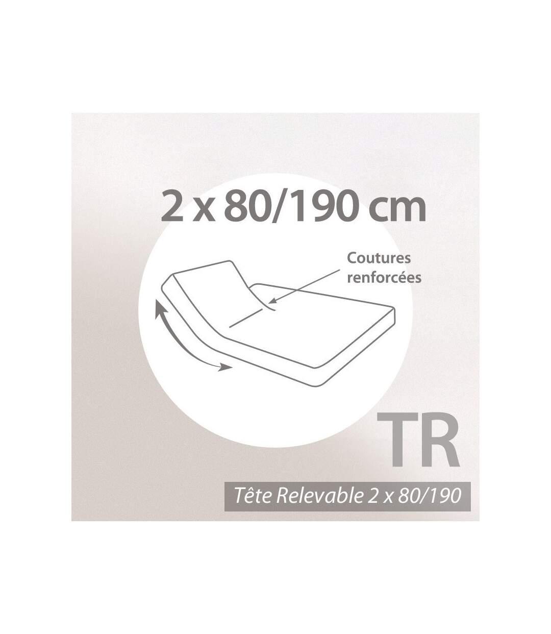 Protège matelas imperméable 2x80x190 ANTONY Spécial lit articulé TR Molleton enduction acrylique Bonnet 30cm