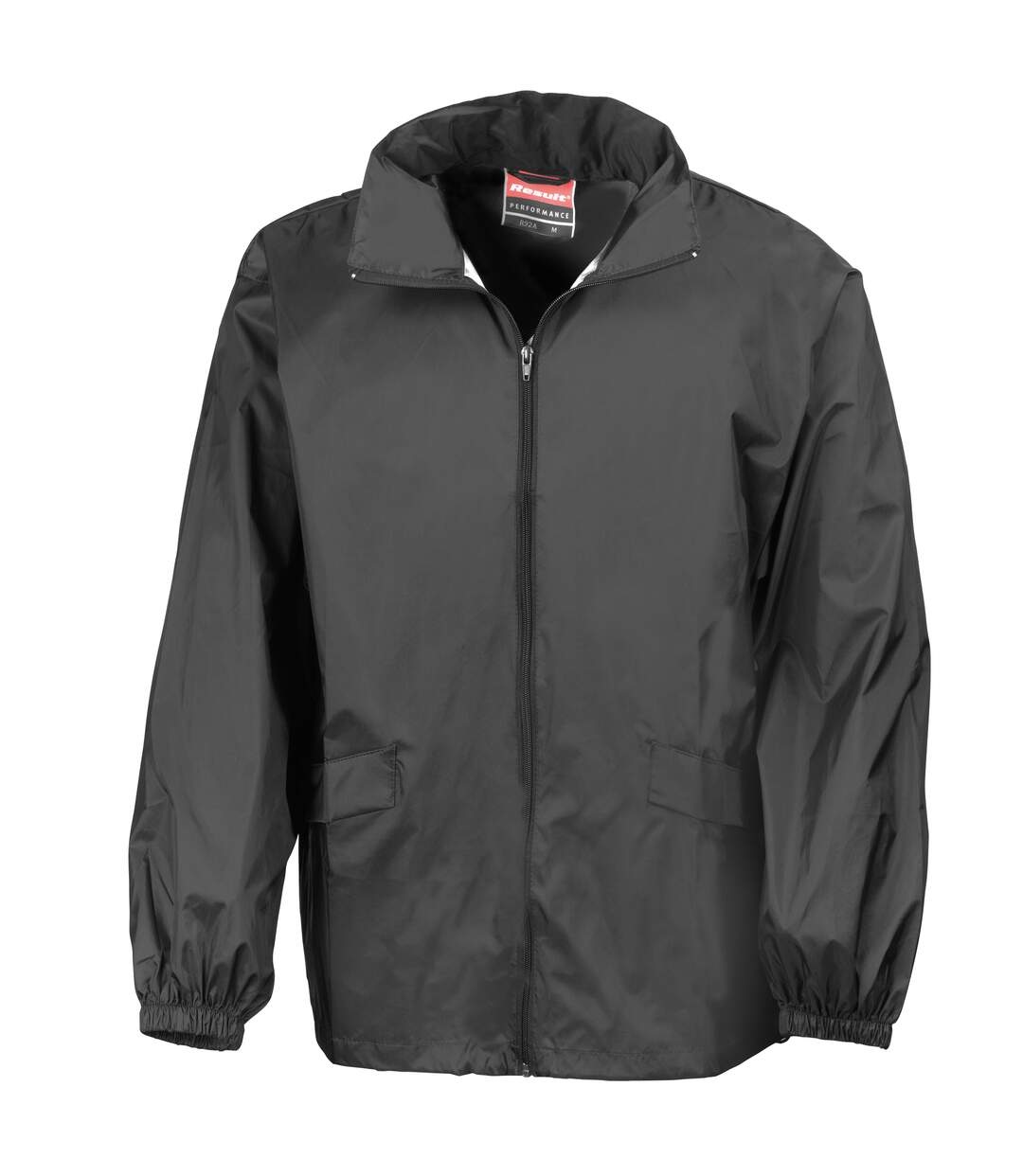 Result Mens Lightweight Windcheater in a Bag Showerproof Windproof Jacket (Concealed Hood) (Black) - UTBC938