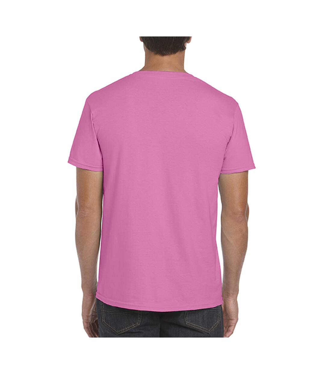 Gildan Mens Short Sleeve Soft-Style T-Shirt (Azalea) - UTBC484