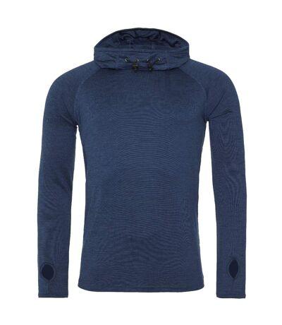AWDis Just Cool Mens Cowl Neck Long Sleeve Baselayer Top (Pack of 2) (Navy Melange) - UTRW6952