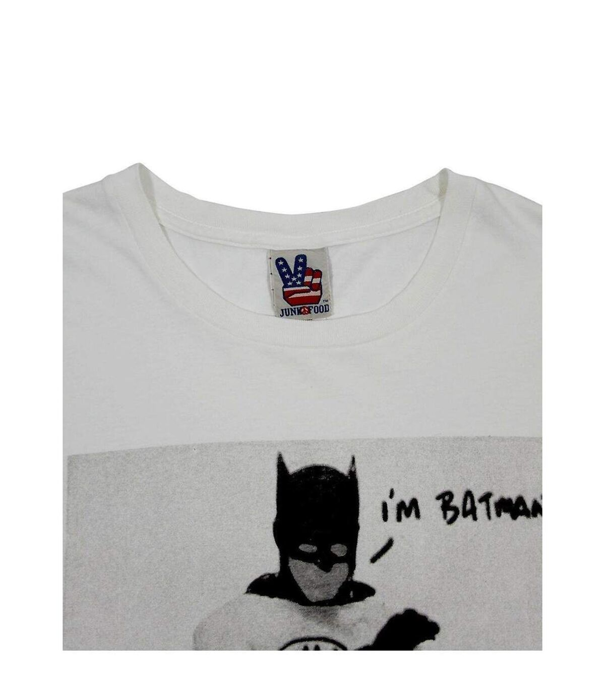 Junk Food Mens Batman T-Shirt (White/Black) - UTNS5533