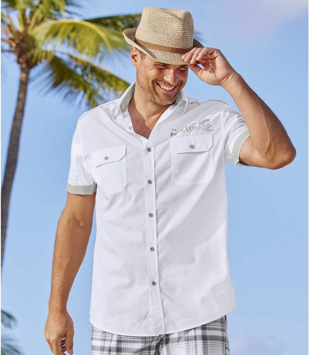 Wit overhemd Palm Coast Atlas For Men
