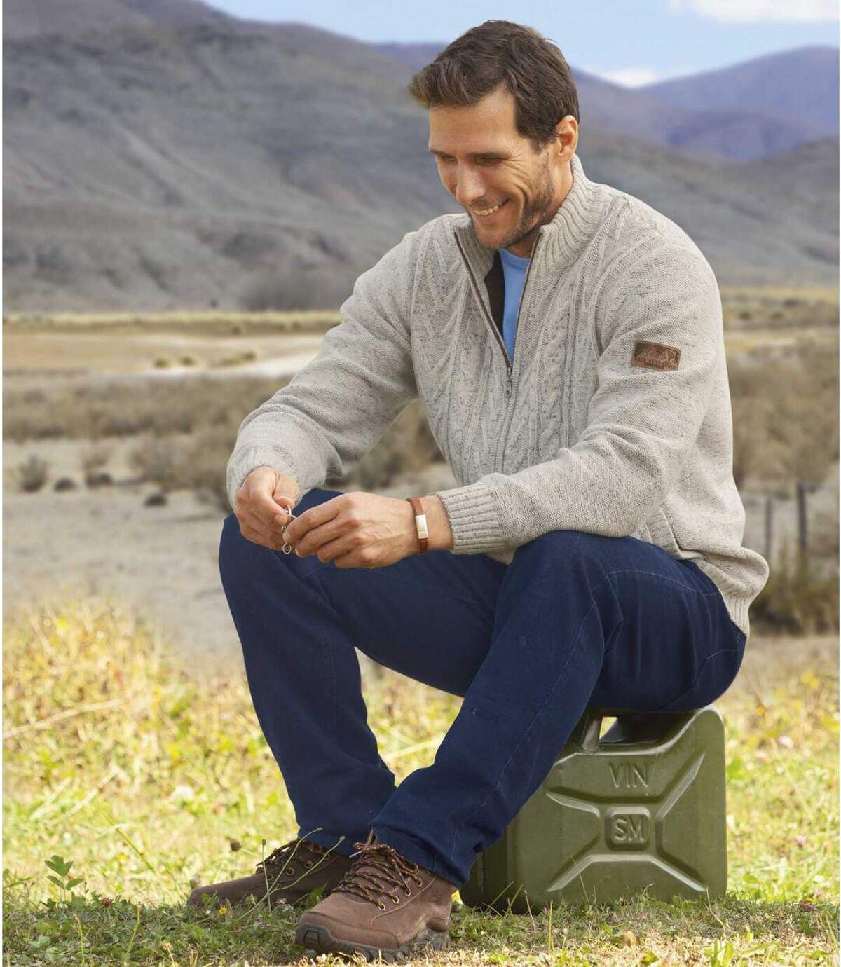 Strickjacke Raid mit Fleecefutter Atlas For Men