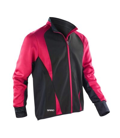 Spiro Mens Freedom Softshell Sports/Training Jacket (Magenta/ Black) - UTRW2857