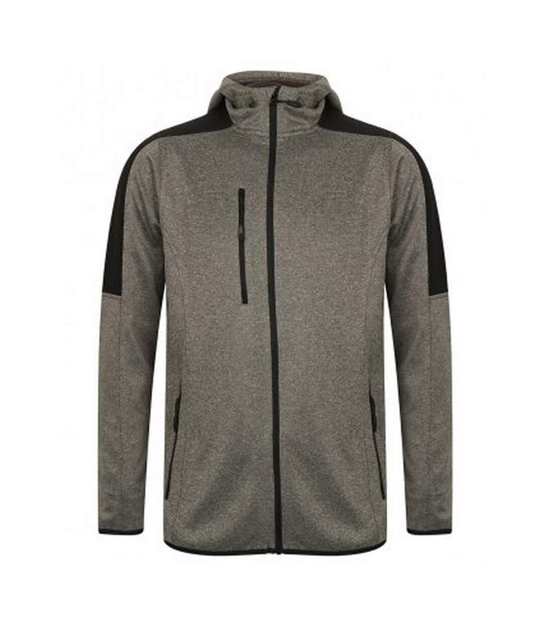 Finden & Hales Mens Active Soft Shell Jacket (Dark Grey Marl/Black) - UTPC3079