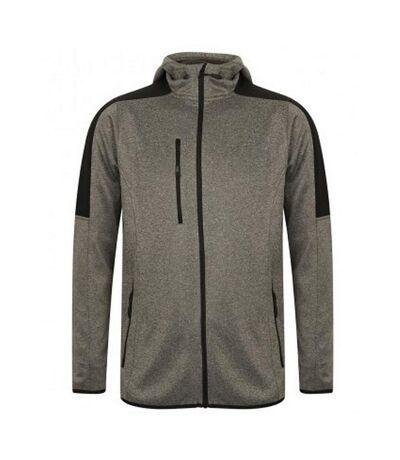 Finden & Hales Mens Active Soft Shell Jacket (Dark Grey Marl/Black) - UTPC3079