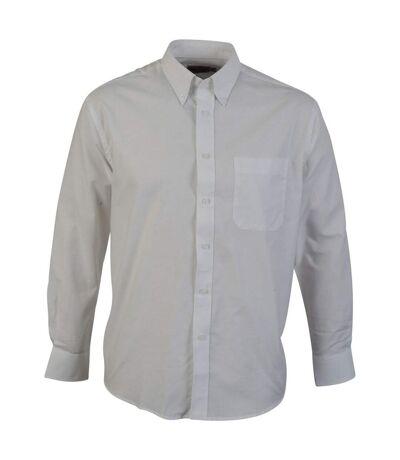 Absolute Apparel Chemise oxford à manches longues pour hommes (Blanc) - UTAB119