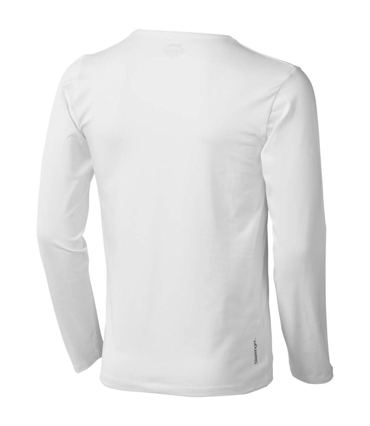 Slazenger - T-shirt manches longues Curve - Homme (Blanc) - UTPF1725