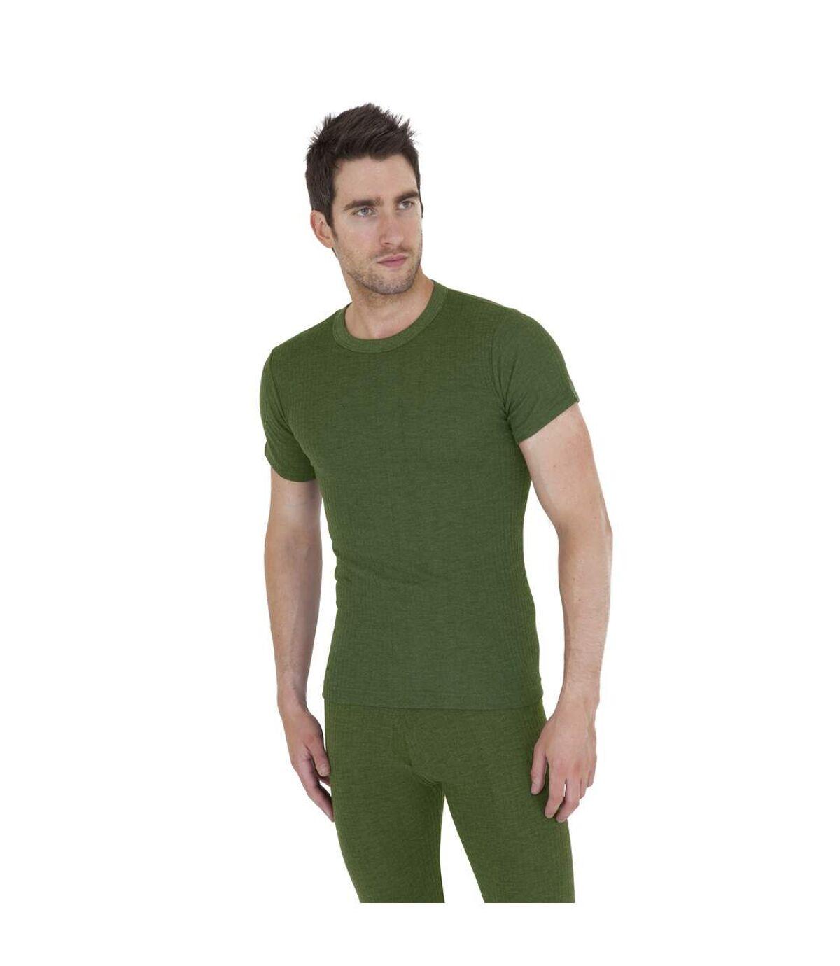 T-shirt thermique à manches courtes - Homme (Vert foncé) - UTTHERM2