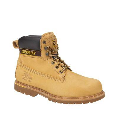 Caterpillar Holton SB Safety Boot / Mens Boots / Boots Safety (Honey) - UTFS923