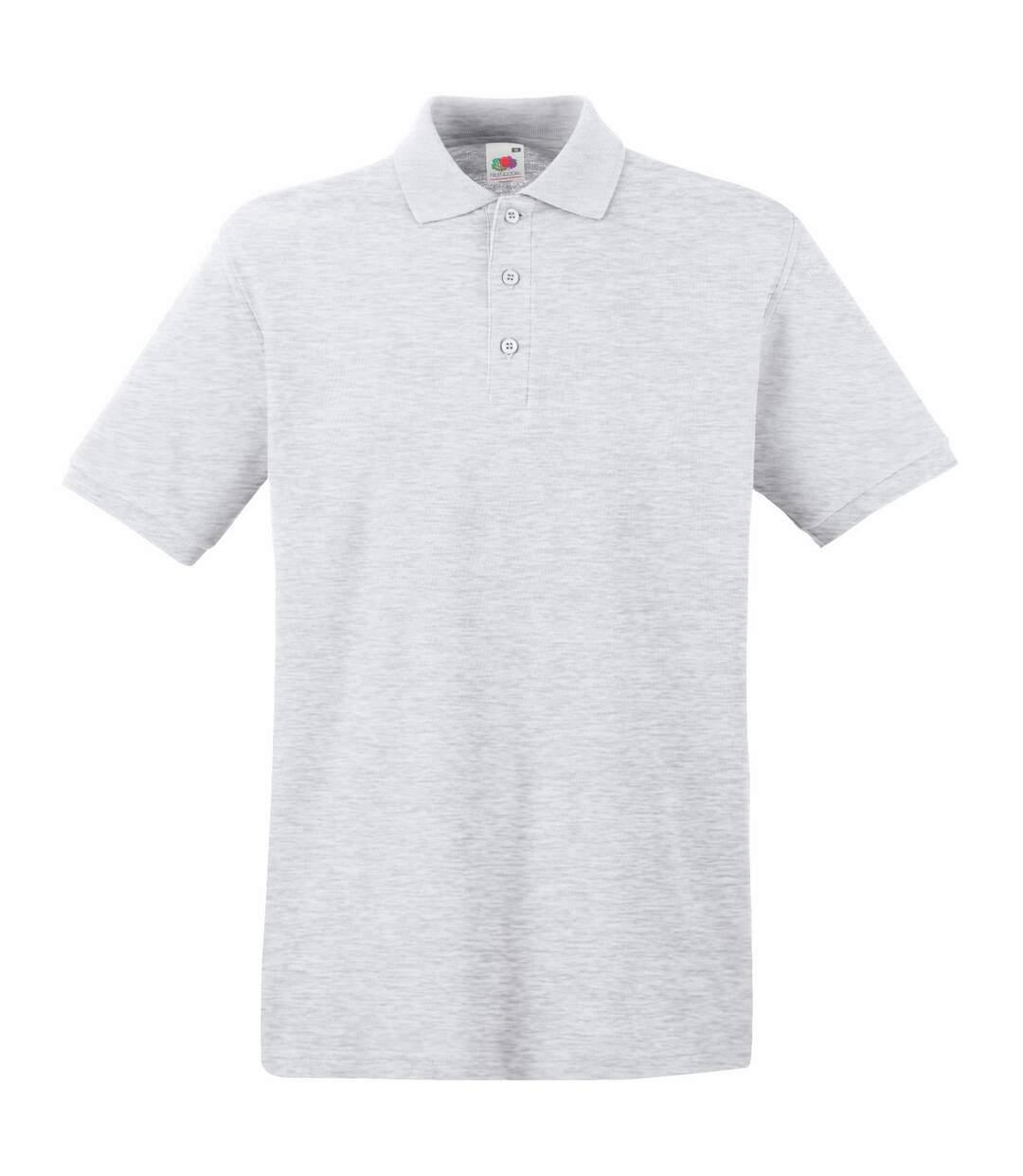 Fruit Of The Loom Premium Mens Short Sleeve Polo Shirt (Heather Grey) - UTBC1381