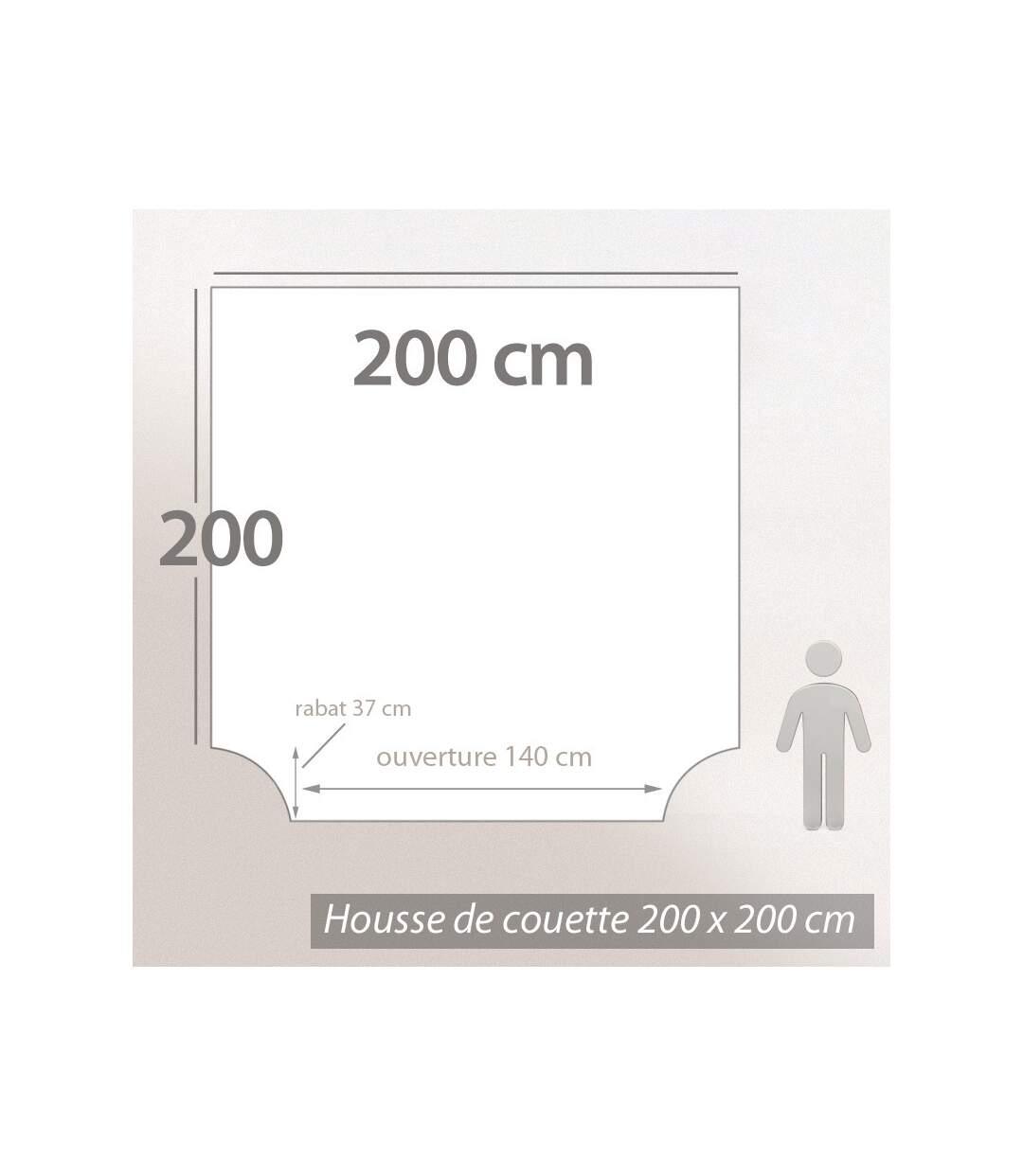 Parure de lit 200x200 cm Percale 100% coton ELEGANCE blanc 3 pièces
