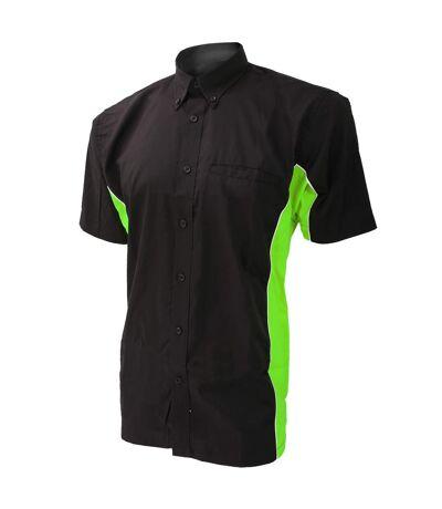 Polo à manches courtes Gamegear® Sportsman pour homme (Noir/Citron vert/Blanc) - UTBC410
