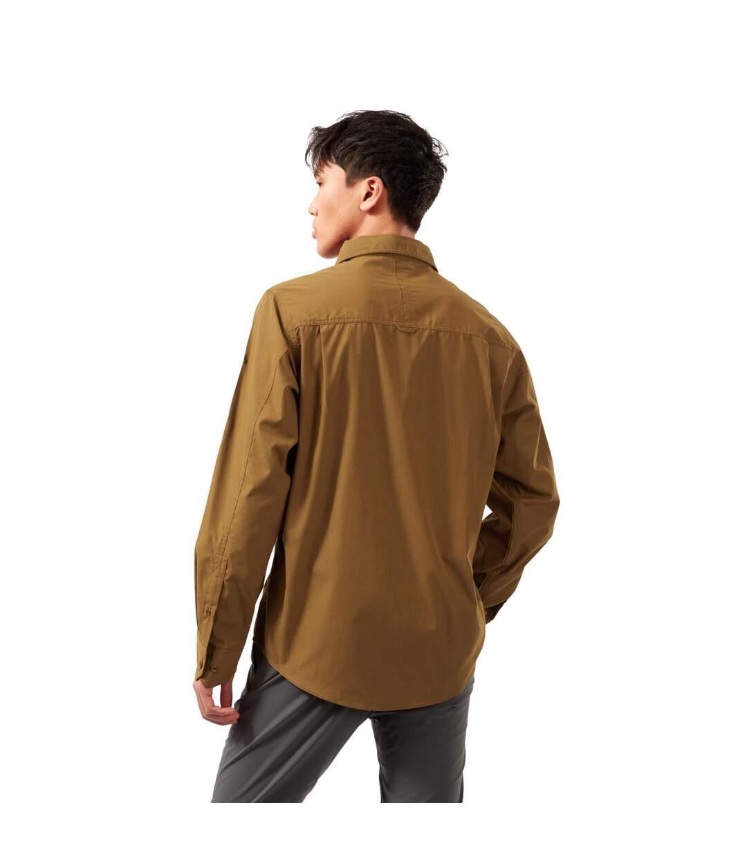 Craghoppers Mens Kiwi Long-Sleeved Shirt (Rubber Brown) - UTCG1500