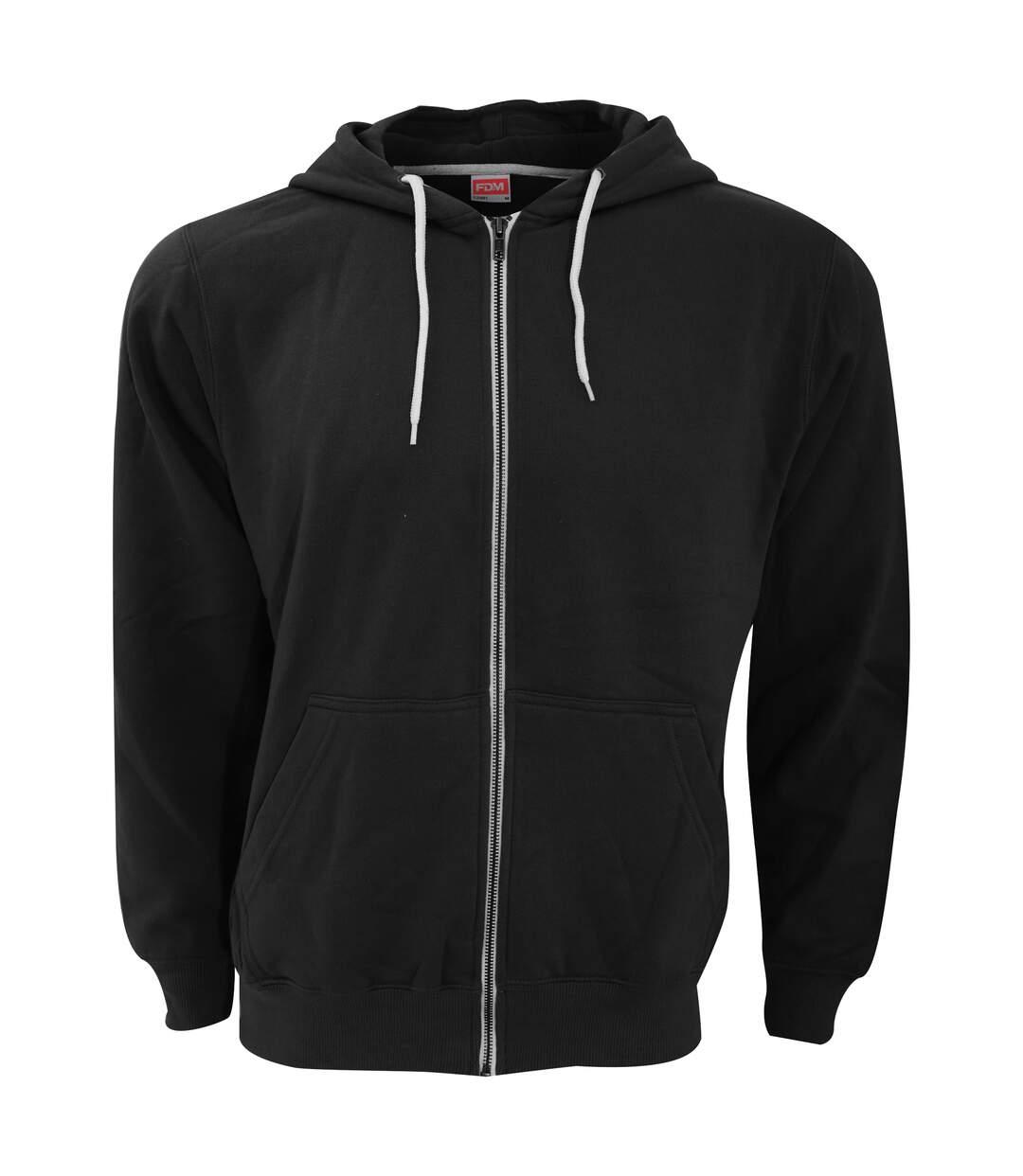 Fdm - Sweatshirt À Capuche Et Fermeture Zippée - Homme (Noir) - UTBC3184
