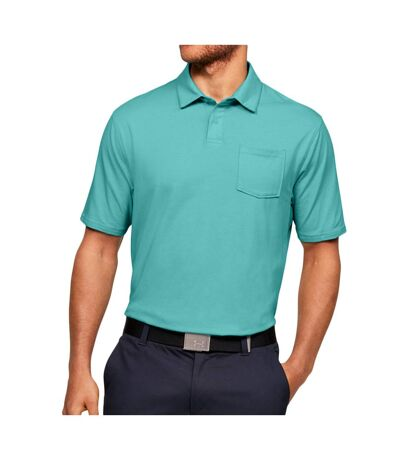 Polo Turquoise Homme Under Armour Scramble