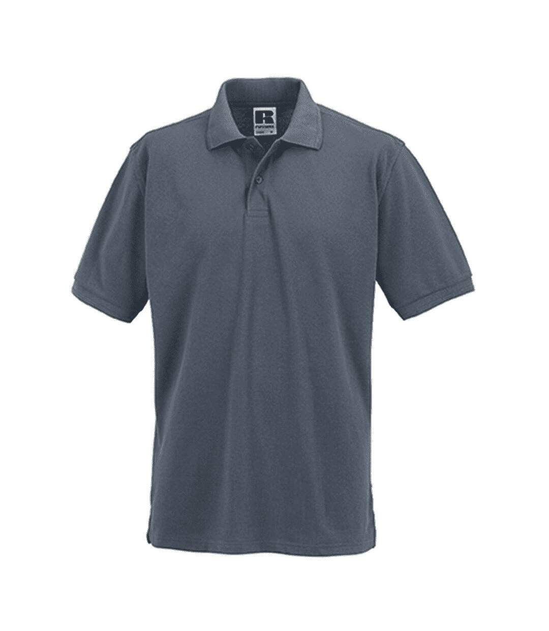 Russell Mens Ripple Collar & Cuff Short Sleeve Polo Shirt (Convoy Grey) - UTBC572