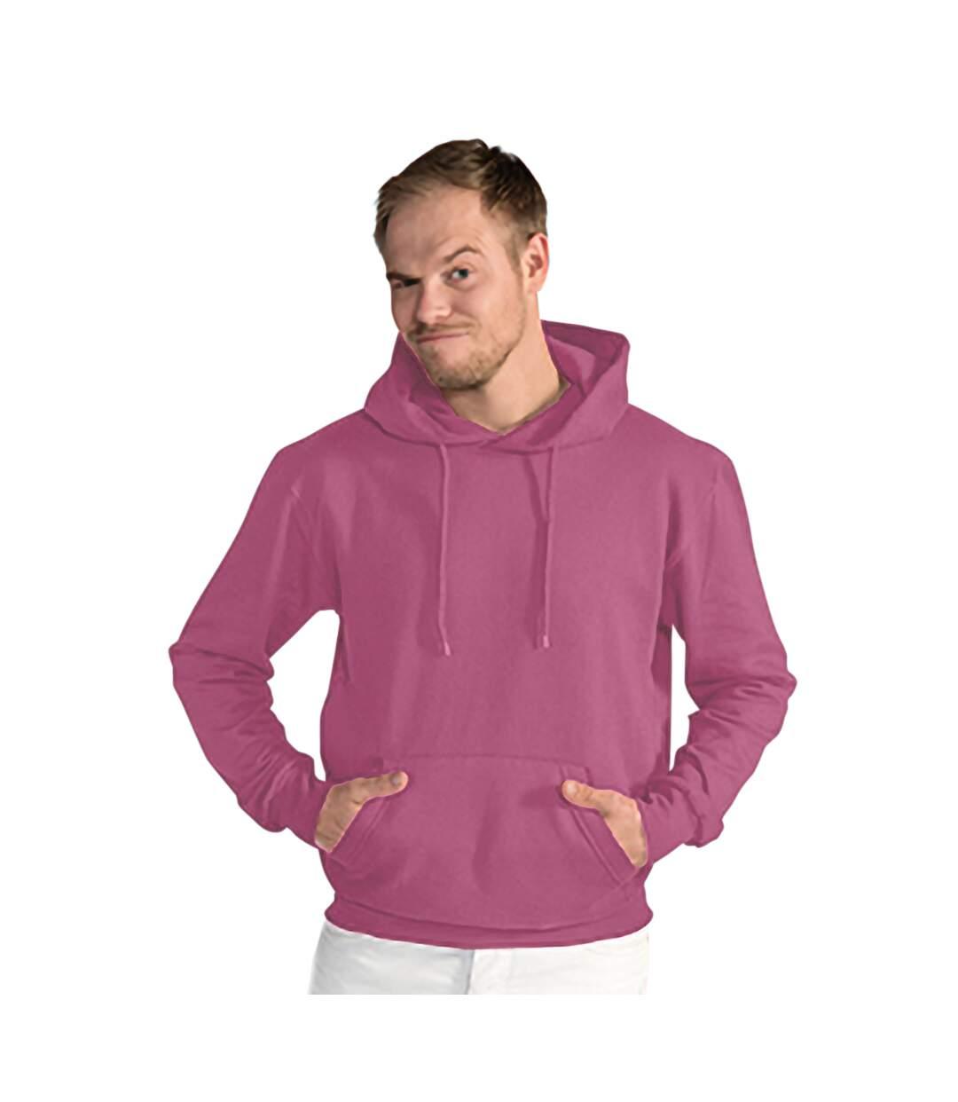 SG Mens Plain Hooded Sweatshirt Top / Hoodie (Cassis) - UTBC1072