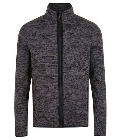 Veste tricot polaire unisexe- 01652 - gris chiné