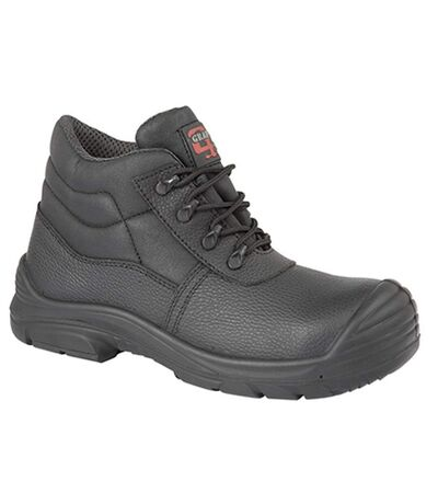 Grafters Mens Super Wide EEEE Fitting Safety Chukka Boots (Black) - UTDF1350