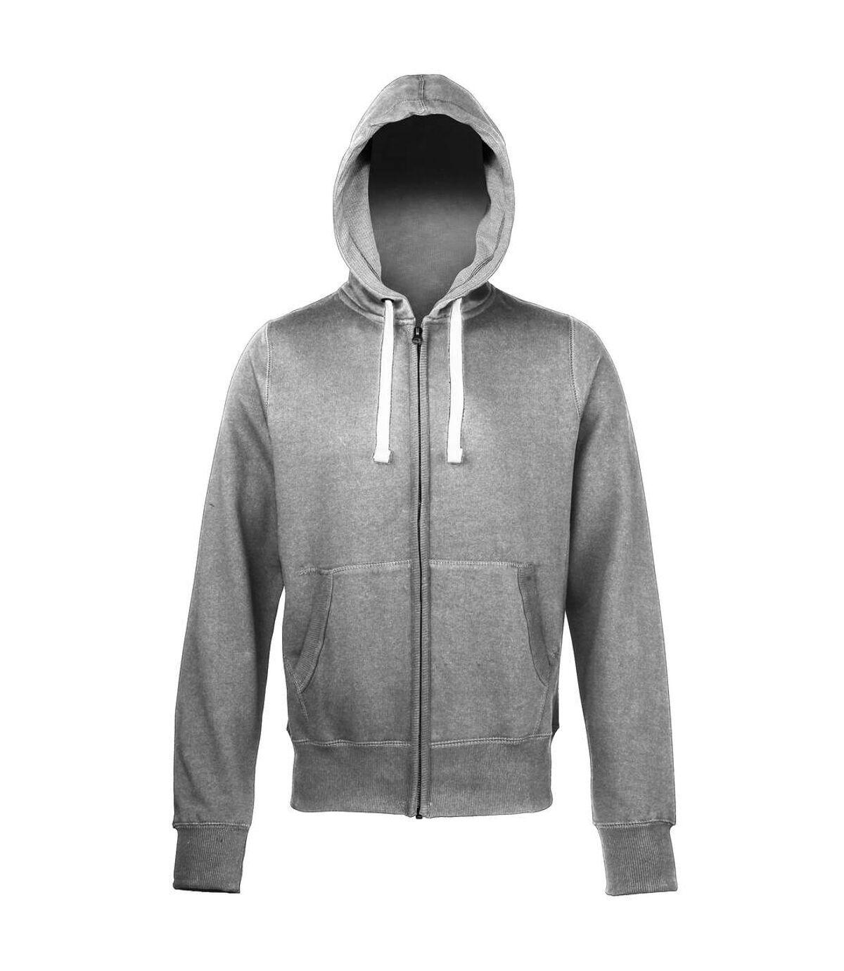 Awdis Chunky Premium Heavyweight Hooded Sweatshirt / Hoodie / Zoodie (Charcoal) - UTRW181
