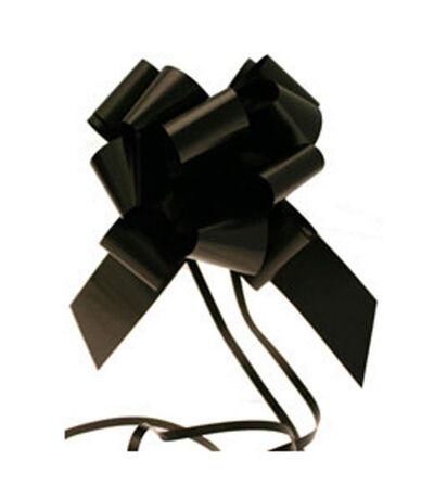 Apac - Nœud  pour cadeaux 50 mm (Lot de 20) (Noir) (Taille unique) - UTSG11726