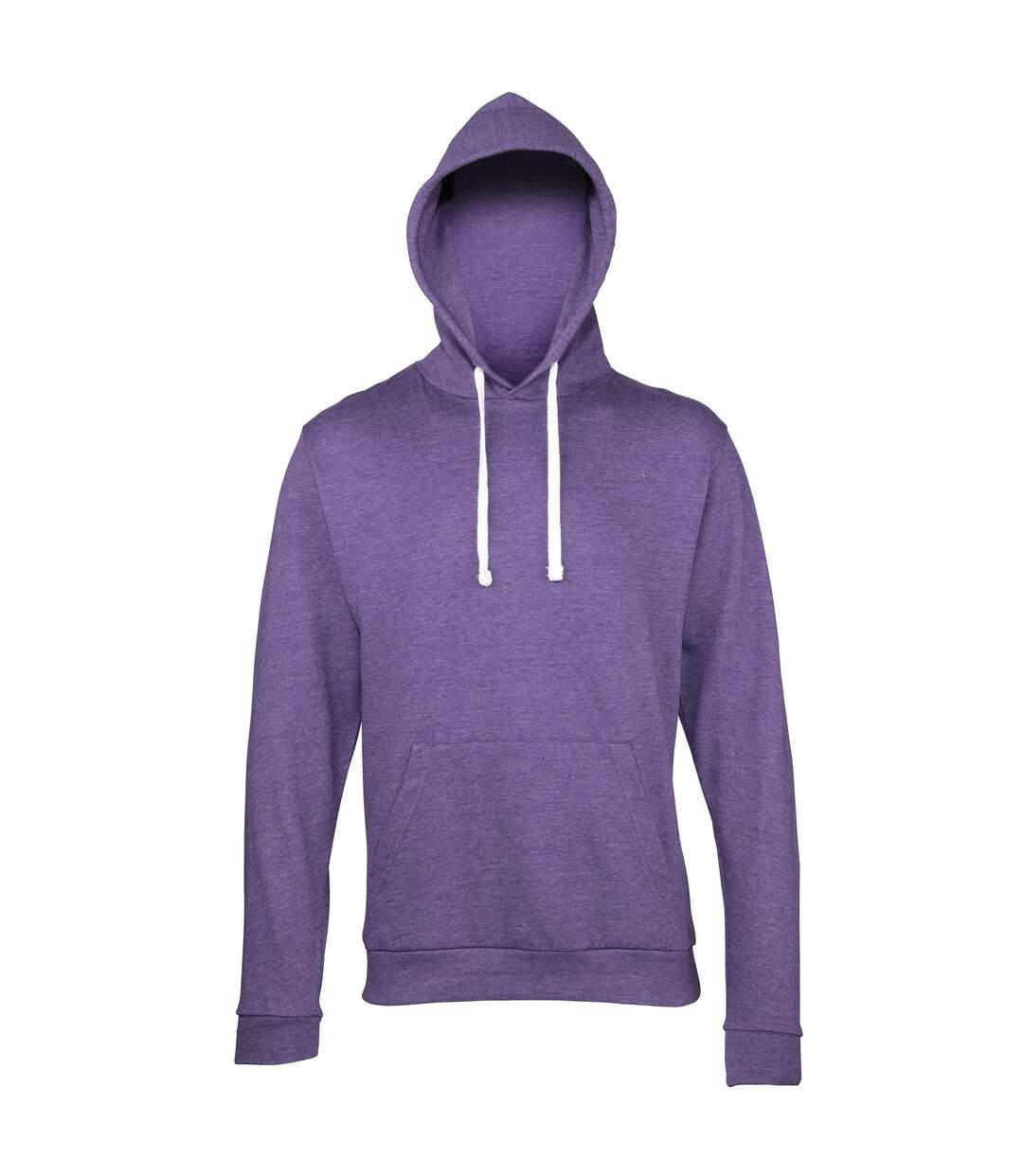 Awdis Adults Unisex Heather Hooded Sweatshirt / Hoodie (Navy Heather) - UTRW168
