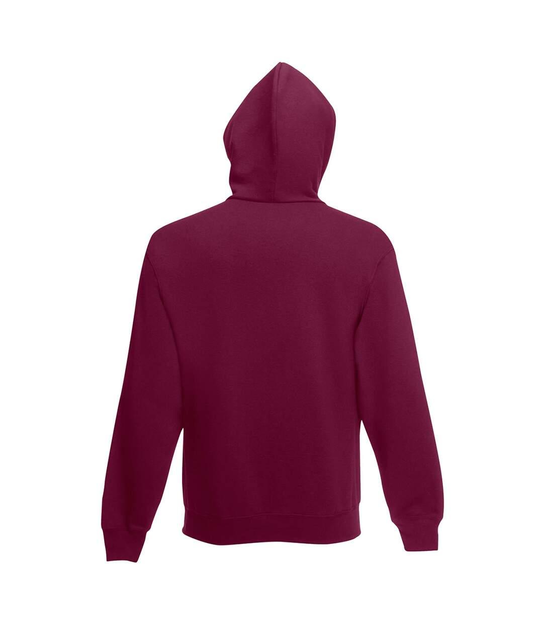 Fruit Of The Loom Mens Hooded Sweatshirt / Hoodie (Burgundy) - UTBC366
