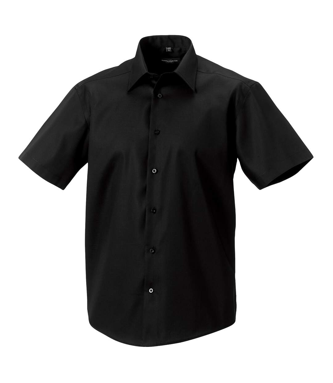Russell Collection Mens Short Sleeve Tailored Ultimate Non-Iron Shirt (Black) - UTBC1039
