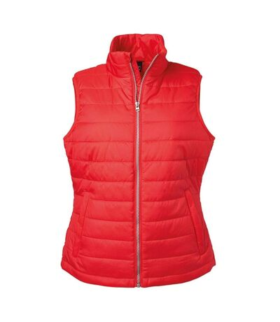 Bodywarmer gilet sans manches - JN1135 - rouge - Femme