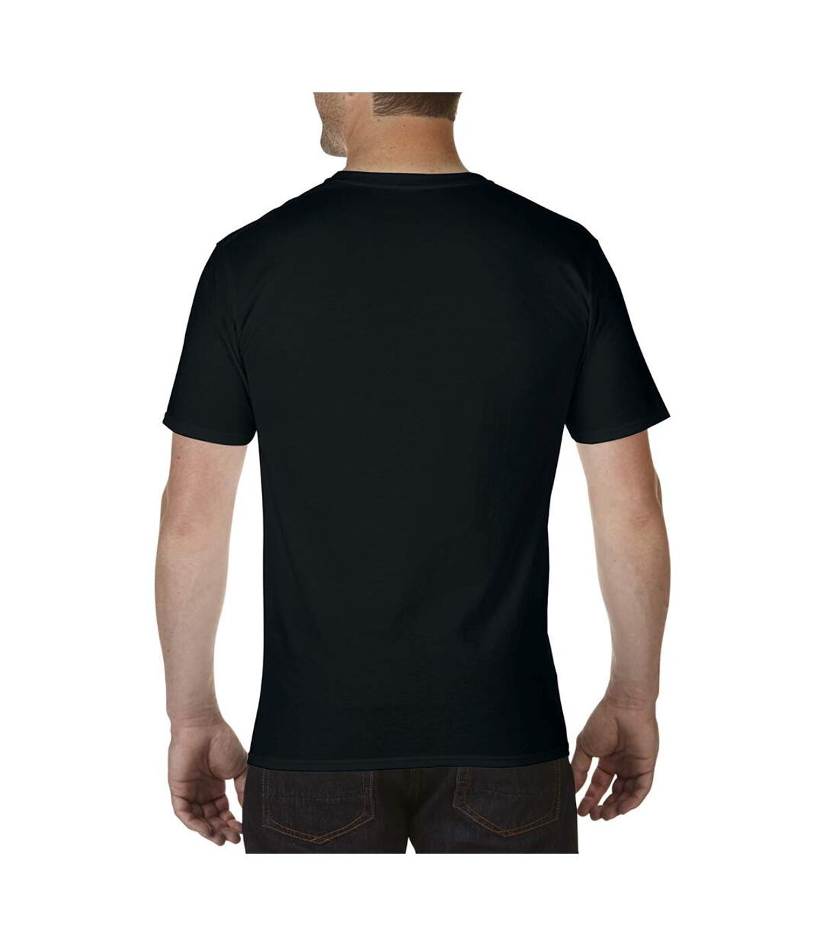 Gildan Mens Premium Cotton V Neck Short Sleeve T-Shirt (Black) - UTBC3483