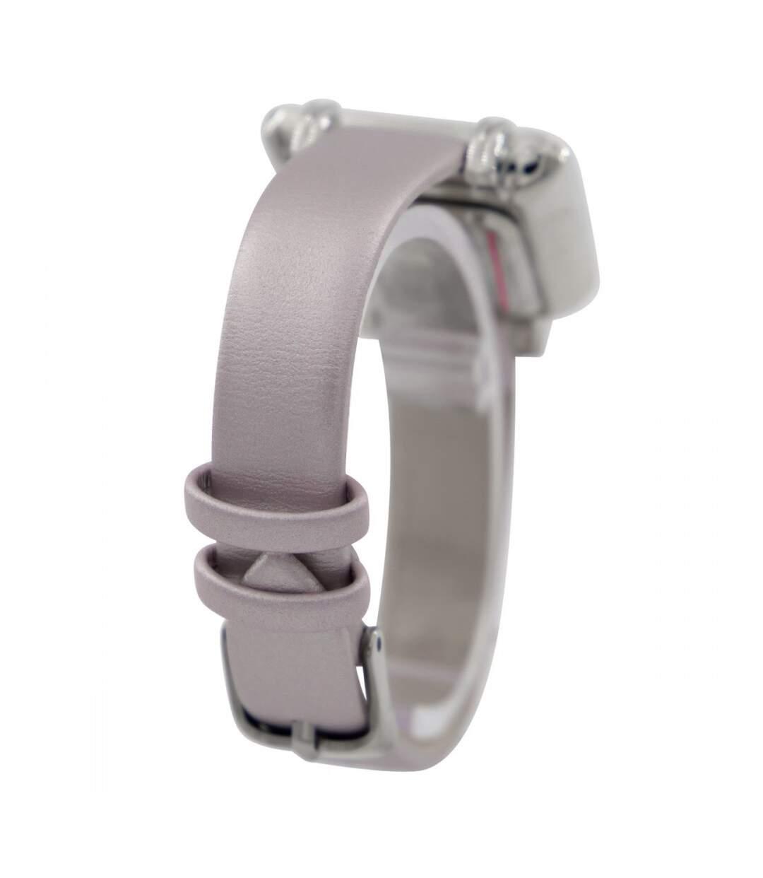 Dégagement Montre Femme GIORGIO bracelet Cuir Violet dsf.d455nksdKLFHG