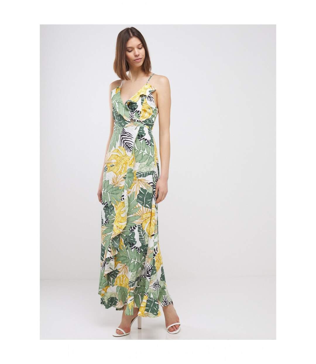 Robe Longue A Imprime Tropical Femme Molly Bracken Atlas For Men