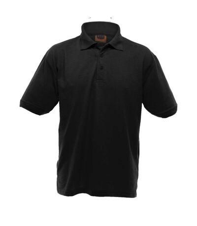 UCC 50/50 Mens Heavyweight Plain Pique Short Sleeve Polo Shirt (Black) - UTBC1195