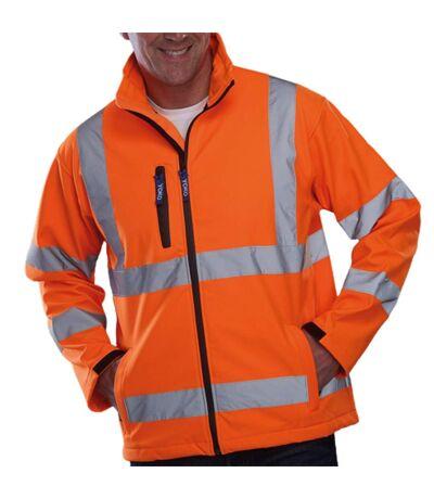 Yoko Mens Hi-Vis Sofshell Jacket (Pack of 2) (Hi Vis Orange/Navy) - UTBC4393