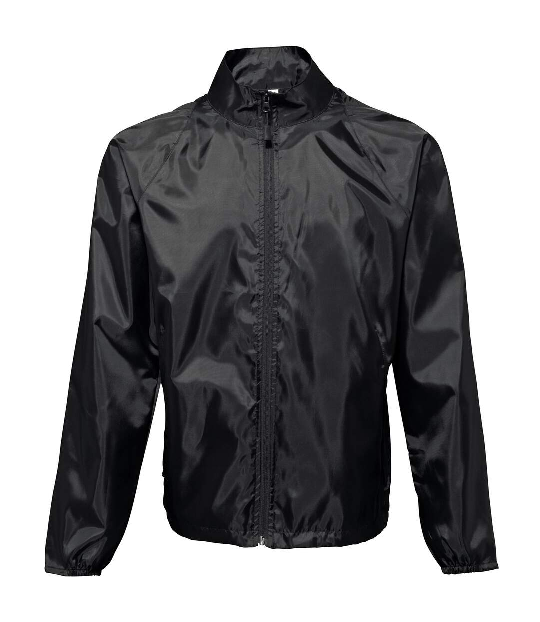 2786 Unisex Lightweight Plain Wind & Shower Resistant Jacket (Black) - UTRW2500