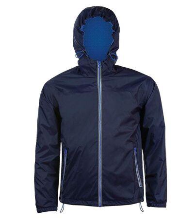 Veste coupe-vent imperméable doublé 01171 - bleu marine - unisexe